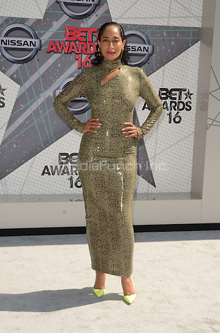 LOS ANGELES, CA - JUNE 26: Tracee Ellis Ross at the 2016 BET Awards at the Microsoft Theater on June 26, 2016 in Los Angeles, California. Credit: David Edwards/MediaPunch