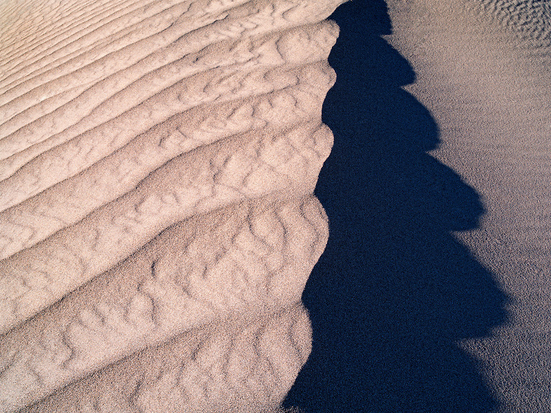Patterns in sand after intense wind storm. Death Valley National Park, California