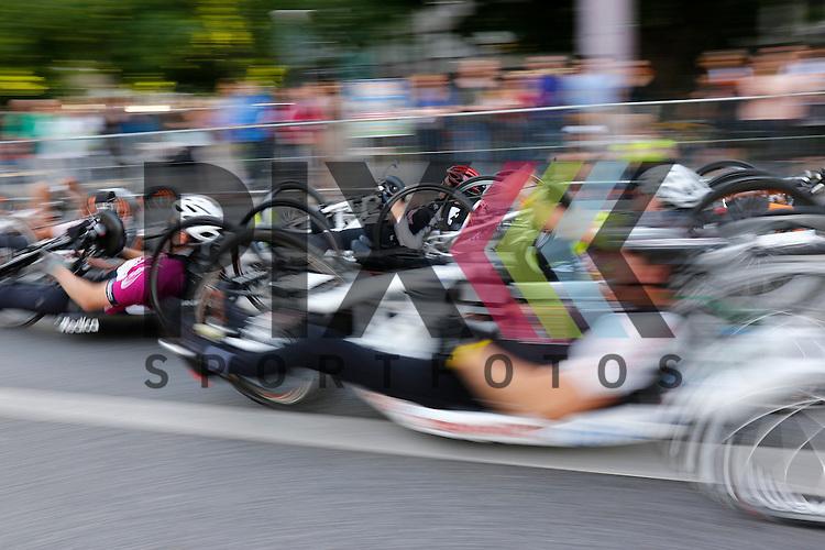 Die Handbiker beim SAP Arena Marathon 09.05.2015.<br /> <br /> Foto &copy; Rhein-Neckar-Picture *** Foto ist honorarpflichtig! *** Auf Anfrage in hoeherer Qualitaet/Aufloesung. Belegexemplar erbeten. Veroeffentlichung ausschliesslich f&uuml;r journalistisch-publizistische Zwecke.