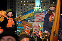 Kiev, Ukraine, 28/12/2004..The third and final round of Ukraine's disputed Presidential election. Supporters of candidate Viktor Yushchenko continue to demonstrate in the city centre..