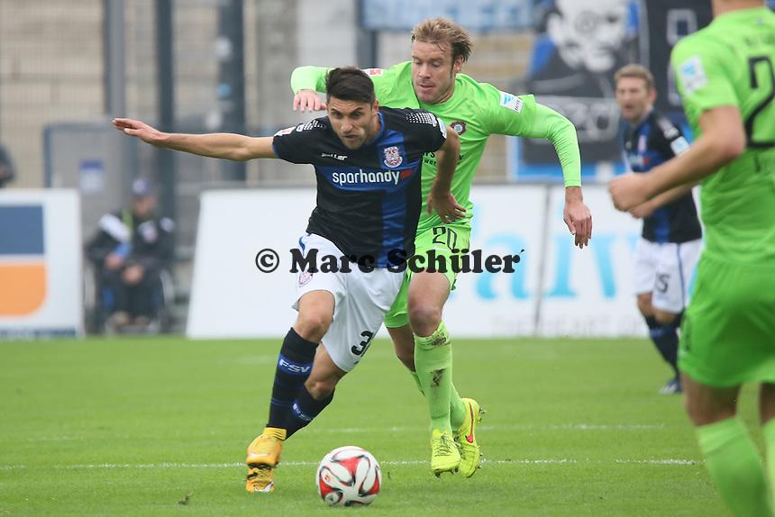 Vincenzo Grifo (FSV) gegen Oliver Schröder (Aue)  - FSV Frankfurt vs. FC Erzgebirge Aue, Frankfurter Volksbank Stadion