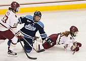 Andie Anastos (BC - 23), Brooke Stacey (Maine - 3), Kali Flanagan (BC - 10) - The Boston College Eagles defeated the visiting University of Maine Black Bears 2-1 on Saturday, October 8, 2016, at Kelley Rink in Conte Forum in Chestnut Hill, Massachusetts.  The University of North Dakota Fighting Hawks celebrate their 2016 D1 national championship win on Saturday, April 9, 2016, at Amalie Arena in Tampa, Florida.
