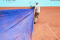 Match suspended by rain during Mutua Madrid Open 2018 at Caja Magica in Madrid, Spain. May 08, 2018. (ALTERPHOTOS/Borja B.Hojas) /NortePhoto.com