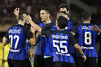 Esultanza Gol Marcelo Brozovic con Vecino, Nagatomo Inter Goal celebration <br /> San Benedetto del Tronto 06-08-2017 <br /> Football Friendly Match  <br /> Inter - Villarreal Foto Andrea Staccioli Insidefoto