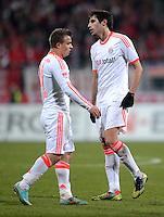 FUSSBALL   1. BUNDESLIGA  SAISON 2012/2013   12. Spieltag 1. FC Nuernberg - FC Bayern Muenchen      17.11.2012 Xherdan Shaqiri und Javi , Javier Martinez (v. li., FC Bayern Muenchen)