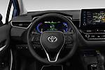 Car pictures of steering wheel view of a 2019 Toyota Corolla  Premium 4 Door Sedan