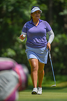 Lizette Salas (USA) after sinking her putt on 1 during round 4 of the U.S. Women's Open Championship, Shoal Creek Country Club, at Birmingham, Alabama, USA. 6/3/2018.<br /> Picture: Golffile | Ken Murray<br /> <br /> All photo usage must carry mandatory copyright credit (&copy; Golffile | Ken Murray)