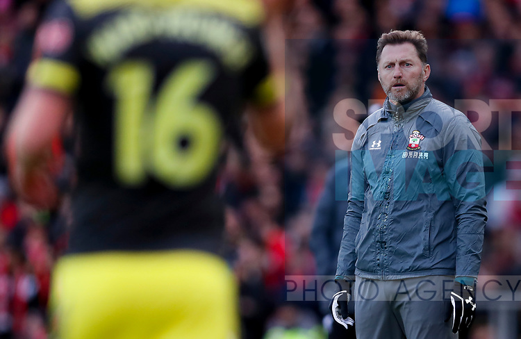 Southampton manager Ralph Hasenhuttl (r) during the Premier League match at Anfield, Liverpool. Picture date: 1st February 2020. Picture credit should read: James Wilson/Sportimage