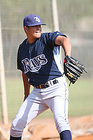 March 19th 2008:  Angel Chapa of the Tampa Bay Devil Rays minor league system during Spring Training at the Raymond A. Naimoli Complex in St. Petersburg, FL.  Photo by:  Mike Janes/Four Seam Images