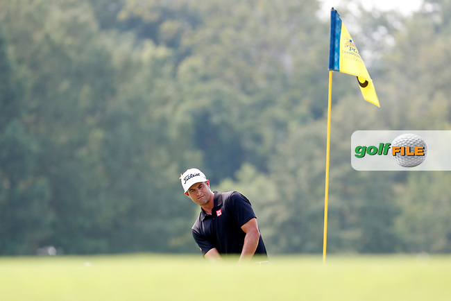 Adam Scott (AUS) putts on the 8th hole during the final round of the 100th PGA Championship at Bellerive Country Club, St. Louis, Missouri, USA. 8/12/2018.<br /> Picture: Golffile.ie | Brian Spurlock<br /> <br /> All photo usage must carry mandatory copyright credit (© Golffile | Brian Spurlock)