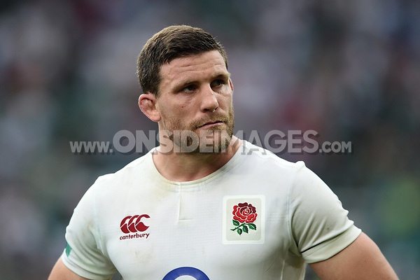 Mark Wilson of England looks on. Old Mutual Wealth Cup International match between England and the Barbarians on May 28, 2017 at Twickenham Stadium in London, England. Photo by: Patrick Khachfe / Onside Images