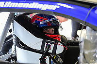 July 15, 2017 - Loudon, New Hampshire, U.S. - AJ Allmendinger, Monster Energy NASCAR Cup Series driver of the Kroger Click List Chevrolet (47), sits in his car before the NASCAR Monster Energy Overton's 301 practice round held at the New Hampshire Motor Speedway in Loudon, New Hampshire. Larson placed first in the qualifier. Eric Canha/CSM
