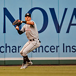26 September 2018: Miami Marlins outfielder Rafael Ortega in action against the Washington Nationals at Nationals Park in Washington, DC. The Nationals defeated the visiting Marlins 9-3, closing out Washington's 2018 home season. Mandatory Credit: Ed Wolfstein Photo *** RAW (NEF) Image File Available ***