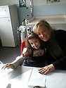Collect pic of Gillian McFarlane with her daughter Sara, age 6, in Italy, 2008.