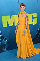 "LOS ANGELES, CA - August 06, 2018: Ruby Rose at the US premiere of ""The Meg"" at the TCL Chinese Theatre"