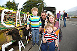 George Martin, Ben Martin, Eoin Martin and Sarah O'Donoghue from Annascaul enjoying the Camp Sheep Fair on Thursday