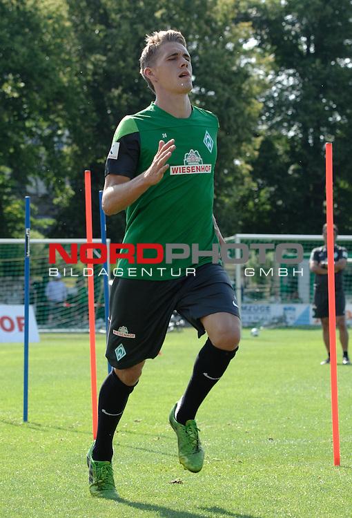 23.07.2013, Sportplatz, Blankenhain, GER, 1.FBL, Trainingslager Werder Bremen 2013, im Bild Nils Petersen (Bremen #24)<br /> <br /> Foto &not;&copy; nph / Frisch