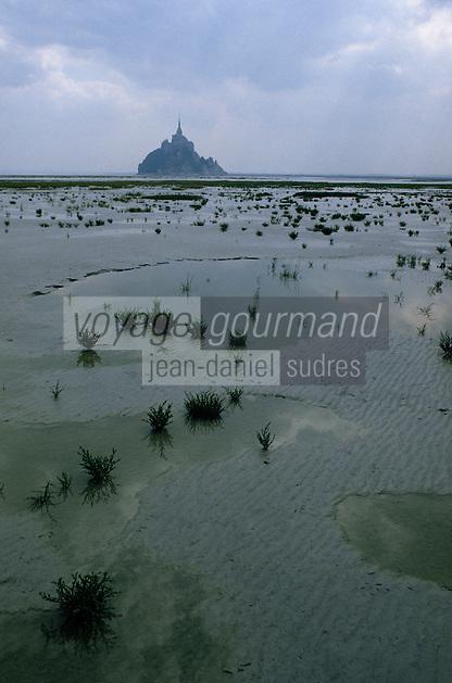 Europe/France/Normandie/Basse-Normandie/50/Manche: Le mont Saint-Michel et sa baie