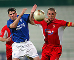 Rangers v Energie Cottbus 18.1.2003, Dubai al sahbab stadium: Stevie Thompson and Christian Beeck
