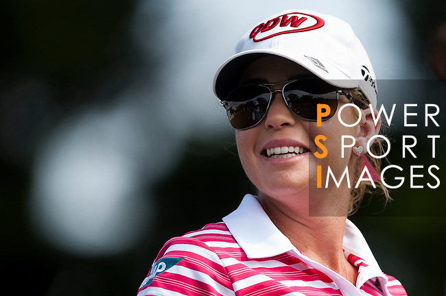 TAOYUAN, TAIWAN - OCTOBER 28:  Paula Creamer of USA smiles on the 2nd hole during the day four of the Sunrise LPGA Taiwan Championship at the Sunrise Golf Course on October 28, 2012 in Taoyuan, Taiwan.  Photo by Victor Fraile / The Power of Sport Images