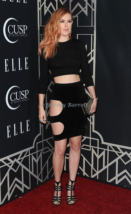Rumer Willis arriving at 'ELLE 5th Annual Women In Music Concert Celebration' held at the Avalon Los Angeles, CA. April 22, 2014.