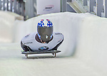 9 January 2016: Kyle Brown, competing for the United States of America, crosses the finish line on his second run of the day during the BMW IBSF World Cup Skeleton Championships at the Olympic Sports Track in Lake Placid, New York, USA. Brown ended the day with a combined 2-run time of 1:50.20 and a 6th place overall finish. Mandatory Credit: Ed Wolfstein Photo *** RAW (NEF) Image File Available ***