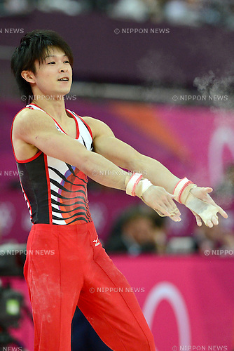 Kohei Uchimura (JPN), .JULY 30, 2012 - Artistic Gymnastics : .Men's Qualification at North Greenwich Arena .during the London 2012 Olympic Games in London, UK.  .(Photo by Enrico Calderoni/AFLO SPORT)