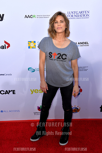 SANTA MONICA, CA. September 07, 2018: Jillian Michaels at the 2018 Stand Up To Cancer fundraiser at Barker Hangar, Santa Monica Airport.