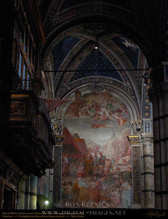 Fall of Manna, Caduta della Manna, Ventura Salimbeni 1610, Chancel, Cathedral of Siena, Santa Maria Assunta, Siena, Italy