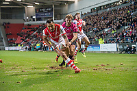 Picture by Allan McKenzie/SWpix.com - 06/04/2018 - Rugby League - Betfred Super League - St Helens v Hull FC - The Totally Wicked Stadium, Langtree Park, St Helens, England - Zeb Taia scores a try.