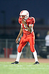 Lawndale, CA 10/01/10 - Bobby Trotter (Lawndale #19) in action during the Peninsula-Lawndale Varsity football game.