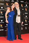 Carlos Saura and His daughter  attends the Feroz Cinema Awards 2015 at Las Ventas, Madrid,  Spain. January 25, 2015.(ALTERPHOTOS/)Carlos Dafonte)