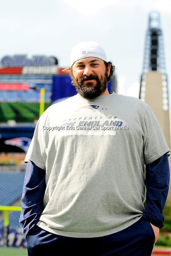 July 29, 2013 - Foxborough, Massachusetts, U.S. - New England Patriots defensive coordinator Matt Patricia during day 5 of the New England Patriots training camp held at Gillette Stadium in Foxborough Massachusetts.   Eric Canha/CSM