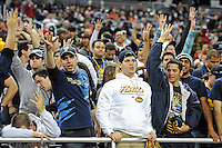 26 December 2010:  Fans signal the start of the fourth quarter as the FIU Golden Panthers defeated the University of Toledo Rockets, 34-32, to win the 2010 Little Caesars Pizza Bowl at Ford Field in Detroit, Michigan.