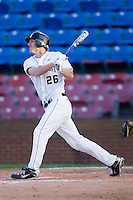 Ryan Semeniuk #26 of the Wake Forest Demon Deacons follows through on his swing against the Charlotte 49ers at Wake Forest Baseball Park March 30, 2010, in Winston-Salem, North Carolina.  Photo by Brian Westerholt / Four Seam Images