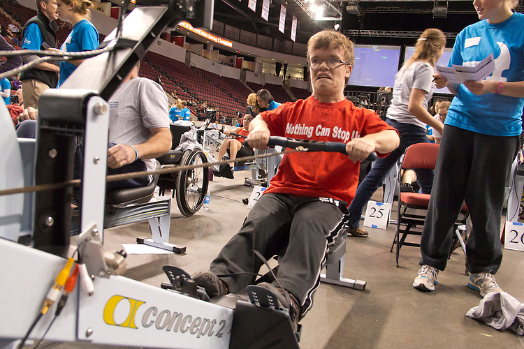 The Crash-B World Indoor Rowing Championships, Adaptive rowers, Open Men Legs-Trunk-Arms; Physically Disabled, Michael Ricker, Community Rowing, 2012, Boston, Massachusetts, All athletes compete annually on a Concept2 Indoor Rower for time over 2000 meters,
