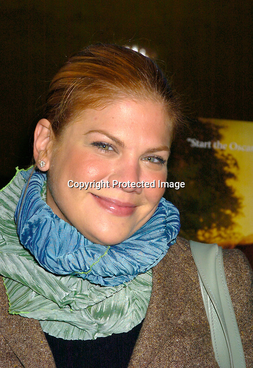 "Kristin Johnson ..at the New York Premiere of ""ps"" on October 12, 2004 ..at the Clearview Chelsea West. ..Photo by Robin Platzer, Twin Images"