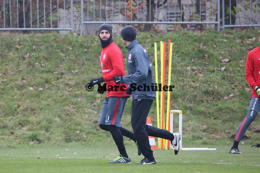 Kevin Trapp (Eintracht) wieder im Training - Eintracht Frankfurt Training, Commerzbank Arena