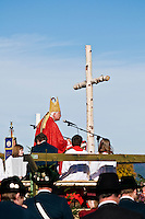 Catholic bishop gives speach at St. Coloman Festival, St. Coloman church, Schwangau, Bavaria, Germany