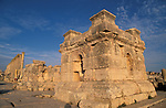 Jordan, Jerash. A podium at the South Tetrakionia&amp;#xA;<br />