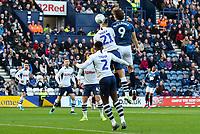 Blackburn Rovers' Sam Gallagher scores the opening goal <br /> <br /> Photographer Alex Dodd/CameraSport<br /> <br /> The EFL Sky Bet Championship - Preston North End v Blackburn Rovers - Saturday 26th October 2019 - Deepdale Stadium - Preston<br /> <br /> World Copyright © 2019 CameraSport. All rights reserved. 43 Linden Ave. Countesthorpe. Leicester. England. LE8 5PG - Tel: +44 (0) 116 277 4147 - admin@camerasport.com - www.camerasport.com
