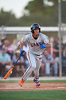 Vaughn Grissom during the WWBA World Championship at the Roger Dean Complex on October 18, 2018 in Jupiter, Florida.  Vaughn Grissom is a shortstop from Orlando, Florida who attends Hagerty High School and is committed to Florida International.  (Mike Janes/Four Seam Images)