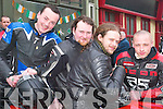Sunday run: Taking part in the fundraising poker run which left from the New .Kingdom Bar in Listowel on Sunday and aimed to raise money for the Athea .Road Race this summer were Tom Hough, Athea, Tim Collins, Marcin Biegas and .Konrad Piecucli, Abbeyfeale..   Copyright Kerry's Eye 2008