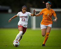 STANFORD, CA - November 23, 2018: Kiki Pickett at Laird Q. Cagan Stadium. The top seeded Stanford Cardinal defeated the Tennessee Volunteers 2-0 in the Quarterfinal of the NCAA tournament.
