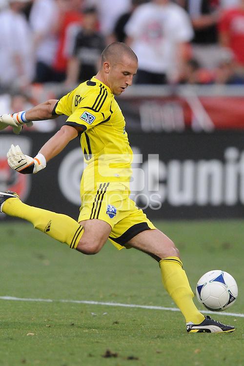 Montreal Impact goalkeeper Evan Bush (30)  D.C. United defeated Montreal Impact 3-0 at RFK Stadium, Saturday June 30, 2012.