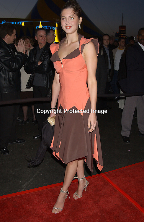 EVA AMURRI                          . AT THE OPENING OF CIRQUE DU SOLEIL VAREKAI ON RANDALL'S ISLAND ON APRIL 24,2003..PHOTO BY ROBIN PLATZER, TWIN IMAGES