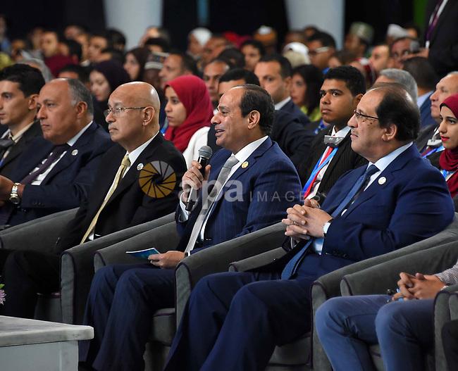 Egyptian President Abdel-Fattah al-Sisi takes part in the World Youth Forum in Sharm El Sheikh, Egypt, on Nov. 6, 2017. Photo by Egyptian President Office