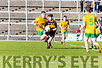 Jordan Kiely Dr Crokes goes past John Sheehan Gneeveguilla during East Kerry semi final in Fitzgerald Stadium on Saturday