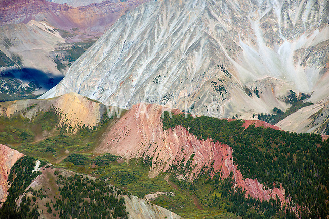 Rocky Mountains, southeast of Aspen, Colorado.  White Rock Mountain