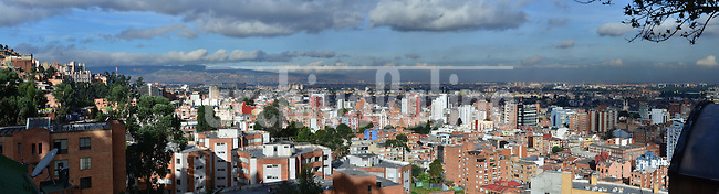 Vista panoramica de la zona norte de la ciudad de Bogota, capital de Colombia..Panoramic View of the North area of Bogota city, capital of Colombia